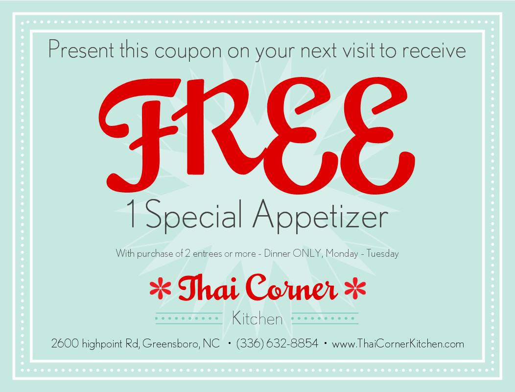Thai Corner Kitchen :: Coupon